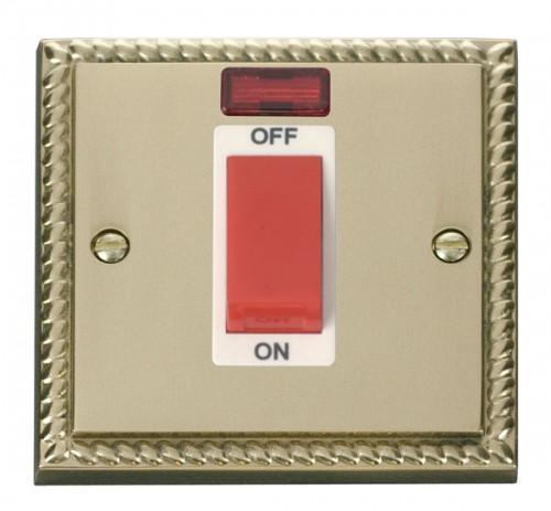 Click Deco Georgian Cast Brass GCBR Control Switch