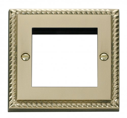 Buy GCBR Georgian Brass Click Deco 1 Gang Media Plates | PEC Lights