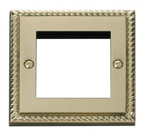 Click Deco Georgian Cast Brass GCBR New Media Plates