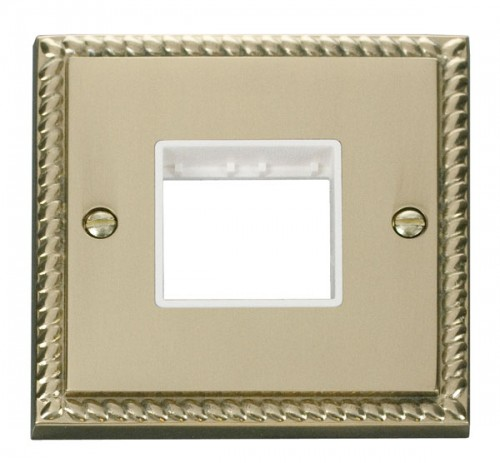 Buy GCBR Georgian Brass Click Deco Mini Grid Plates | PEC Lights