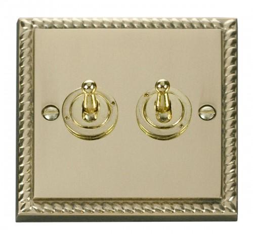 Click Deco Georgian Cast Brass GCBR Toggle Switches
