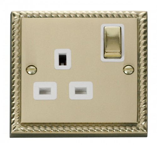 Buy GCBR Georgian Brass Click Deco Switches & Sockets | PEC Lights
