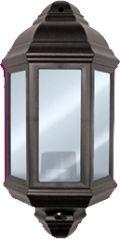 Eterna PIRHL60BK Polycarbonate Half Lantern with PIR - Black