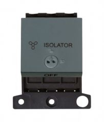 MD220BK 10A 3 Pole Lockable Fan Module Black