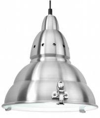 Scolmore PS030AL E27 60W Dome With Glass Aluminium Pendant