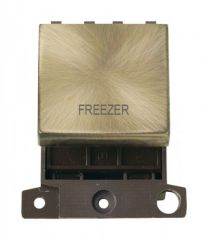 MD022ABFZ 20A DP Ingot Switch Antique Brass Freezer