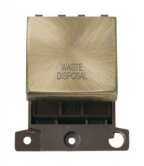 MD022ABWD 20A DP Ingot Switch Antique Brass Waste Disposal