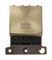MD022ABWM 20A DP Ingot Switch Antique Brass Washing Machine