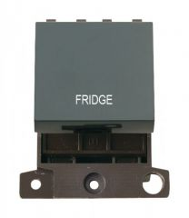 MD022BKFD 20A DP Switch Black Fridge