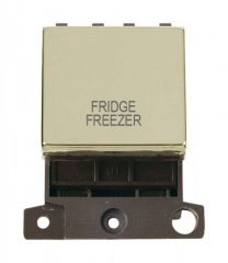 MD022BRFF 20A DP Ingot Switch Brass Fridge Freezer