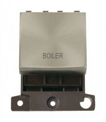 MD022BSBL 20A DP Ingot Switch Brushed Stainless Steel Boiler