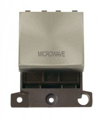 MD022BSMW 20A DP Ingot Switch Brushed Stainless Steel Microwave
