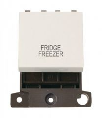 MD022PWFF 20A DP Switch Polar White Fridge Freezer