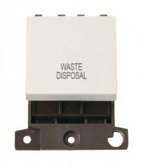 MD022PWWD 20A DP Switch Polar White Waste Disposal