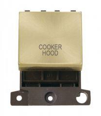 MD022SBCH 20A DP Ingot Switch Satin Brass Cooker Hood