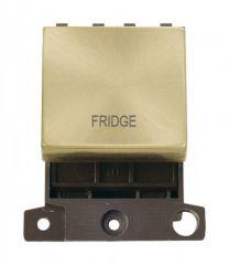 MD022SBFD 20A DP Ingot Switch Satin Brass Fridge