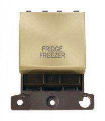 MD022SBFF 20A DP Ingot Switch Satin Brass Fridge Freezer