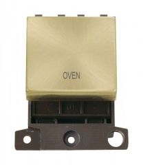 MD022SBOV 20A DP Ingot Switch Satin Brass Oven