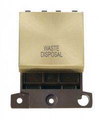 MD022SBWD 20A DP Ingot Switch Satin Brass Waste Disposal