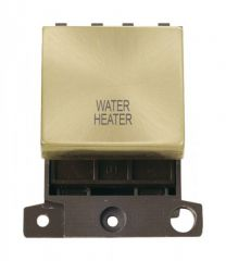 MD022SBWH 20A DP Ingot Switch Satin Brass Water Heater