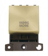 MD022SBWM 20A DP Ingot Switch Satin Brass Washing Machine