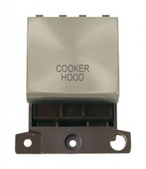 MD022SCCH 20A DP Ingot Switch Satin Chrome Cooker Hood