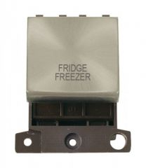 MD022SCFF 20A DP Ingot Switch Satin Chrome Fridge Freezer