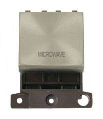 MD022SCMW 20A DP Ingot Switch Satin Chrome Microwave