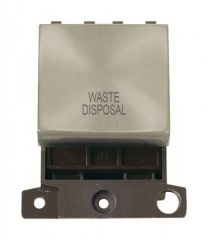 MD022SCWD 20A DP Ingot Switch Satin Chrome Waste Disposal