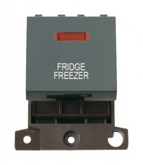 MD023BKFF 20A DP Switch With Neon Black Fridge Freezer