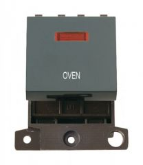 MD023BKOV 20A DP Switch With Neon Black Oven