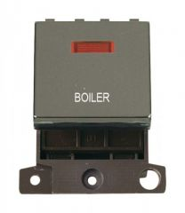 MD023BNBL 20A DP Ingot Switch With Neon Black Nickel Boiler