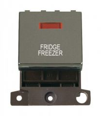 MD023BNFF 20A DP Ingot Switch With Neon Black Nickel Fridge Freezer