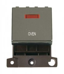 MD023BNOV 20A DP Ingot Switch With Neon Black Nickel Oven