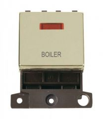 MD023BRBL 20A DP Ingot Switch With Neon Brass Boiler