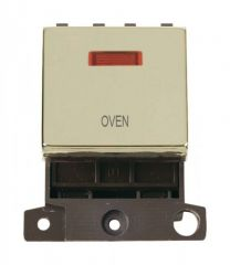 MD023BROV 20A DP Ingot Switch With Neon Brass Oven