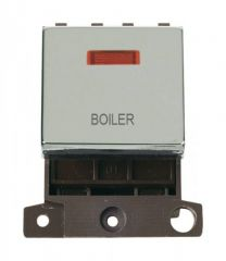 MD023CHBL 20A DP Ingot Switch With Neon Chrome Boiler