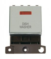 MD023CHDW 20A DP Ingot Switch With Neon Chrome Dishwasher