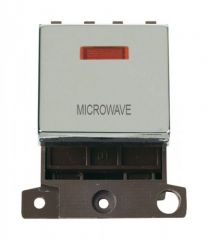 MD023CHMW 20A DP Ingot Switch With Neon Chrome Microwave