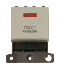 MD023PNFF 20A DP Ingot Switch With Neon Pearl Nickel Fridge Freezer