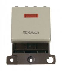 MD023PNMW 20A DP Ingot Switch With Neon Pearl Nickel Microwave