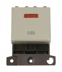 MD023PNOV 20A DP Ingot Switch With Neon Pearl Nickel Oven