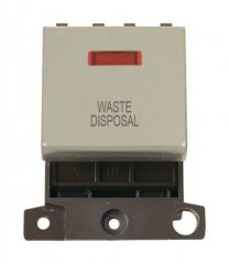 MD023PNWD 20A DP Ingot Switch With Neon Pearl Nickel Waste Disposal