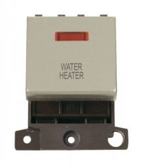 MD023PNWH 20A DP Ingot Switch With Neon Pearl Nickel Water Heater