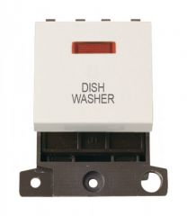 MD023PWDW 20A DP Switch With Neon Polar White Dishwasher