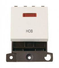 MD023PWHB 20A DP Switch With Neon Polar White Hob