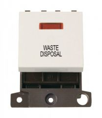 MD023PWWD 20A DP Switch With Neon Polar White Waste Disposal
