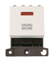 MD023PWWM 20A DP Switch With Neon Polar White Washing Machine