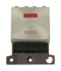 MD023SCFD 20A DP Ingot Switch With Neon Satin Chrome Fridge