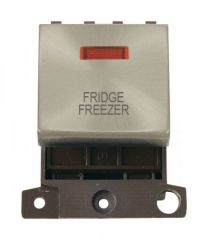 MD023SCFF 20A DP Ingot Switch With Neon Satin Chrome Fridge Freezer